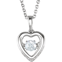 Picture of 0.16 Total Carat Heart Round Diamond Necklace