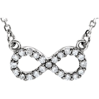 Bild von 0.20 Gesamtkarat Designer-Halsketten mit Runddiamant