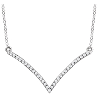 Picture of 0.17 Total Carat Designer Round Diamond Necklace