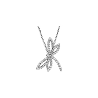 Picture of 0.33 Total Carat Designer Round Diamond Necklace