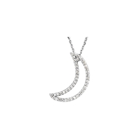 Picture of 0.20 Total Carat Designer Round Diamond Necklace