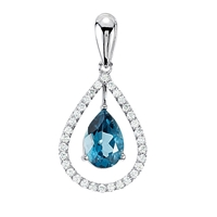 Picture of 0.33 Total Carat Designer Round Diamond Pendant