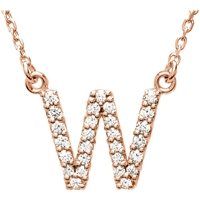 Picture of 0.17 Total Carat Letter Round Diamond Necklace
