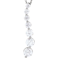 Picture of 1.00 Total Carat Classic Round Diamond Necklace