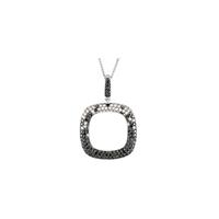 Bild von 1.75 Gesamtkarat Designer-Halsketten mit Runddiamant