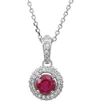 Picture of 0.25 Total Carat Designer Round Diamond Necklace