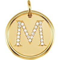 Bild von 0.13 Gesamtkarat Initiale-Halsketten mit Runddiamant