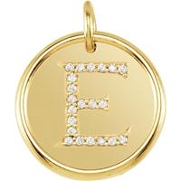 Bild von 0.10 Gesamtkarat Initiale-Halsketten mit Runddiamant