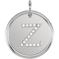 Picture of 0.08 Total Carat Initial Round Diamond Pendant