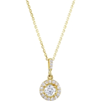 Picture of 0.50 Total Carat Halo Round Diamond Necklace