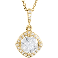Picture of 1.17 Total Carat Halo Round Diamond Necklace