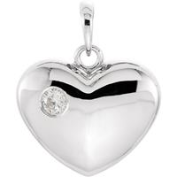 Bild von 0.10 Gesamtkarat Herz-Halsketten mit Runddiamant