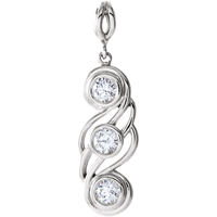 Picture of 0.50 Total Carat Three Stone Round Diamond Pendant