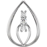 Picture of 0.50 Total Carat Three Stone Round Diamond Pendant