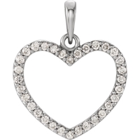 Picture of 0.25 Total Carat Heart Round Diamond Pendant