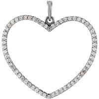 Bild von 0.50 Gesamtkarat Herz-Halsketten mit Runddiamant
