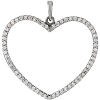 Picture of 0.50 Total Carat Heart Round Diamond Pendant