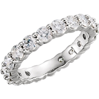 Picture of 2.00 Total Carat Eternity Wedding Round Diamond Ring