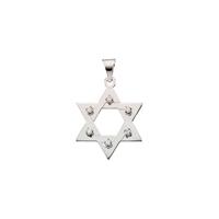 Bild von 0.30 Gesamtkarat Davidstern-Halsketten mit Runddiamant