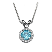 Picture of 0.40 Total Carat Halo Round Diamond Pendant