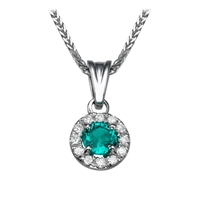 Picture of 0.42 Total Carat Halo Round Diamond Pendant