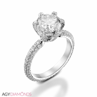 Picture of 2.15 Total Carat Masterworks Engagement Round Diamond Ring
