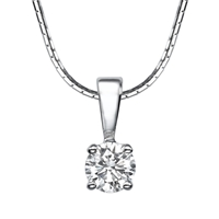 Picture of 0.52 Total Carat Solitaire Round Diamond Pendant