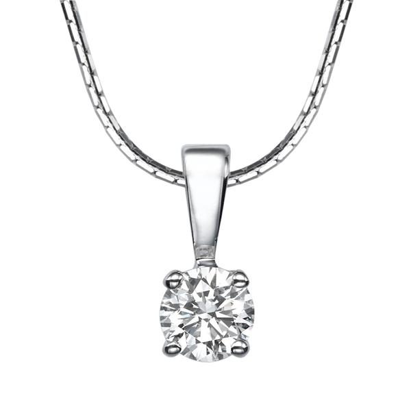 Picture of 0.52 Total Carat Solitaire Round Diamond Pendant