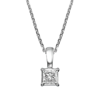 Picture of 0.40 Total Carat Solitaire Princess Diamond Pendant