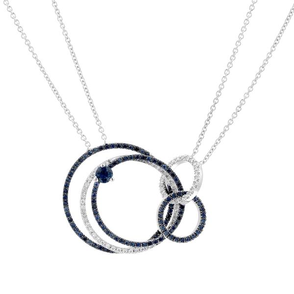Bild von 0.74 Gesamtkarat Klassisch-Halsketten mit Runddiamant