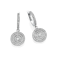 Picture of 0.82 Total Carat Drop Round Diamond Earrings