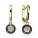 Picture of 0.54 Total Carat Drop Round Diamond Earrings