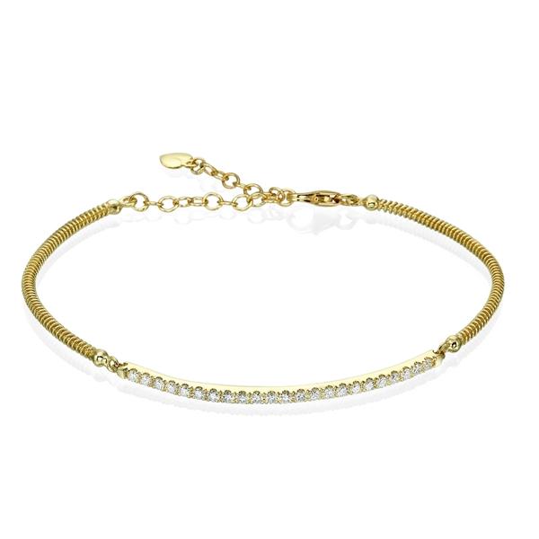 Picture of 0.45 Total Carat Designer Round Diamond Bracelet