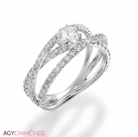 Picture of 2.80 Total Carat Masterworks Engagement Round Diamond Ring