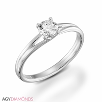 Picture of 0.40 Total Carat Solitaire Engagement Round Diamond Ring