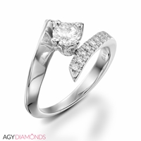 Picture of 0.28 Total Carat Designer Engagement Round Diamond Ring