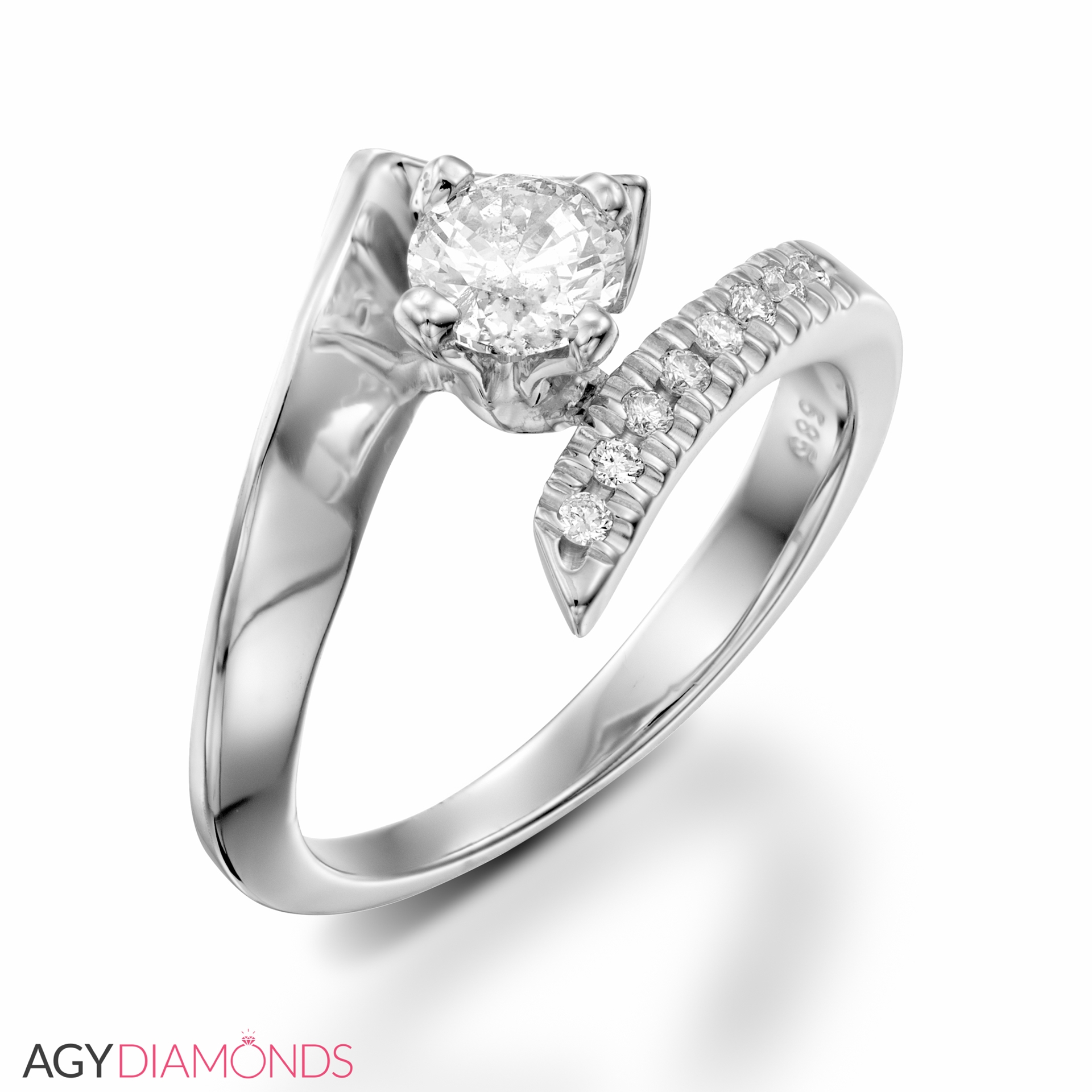 contemporary crownring rings jewellery designer diamond engagement
