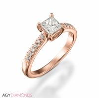 Bild von 0.82 Gesamtkarat Klassisch-Verlobungsring mit Princessdiamant