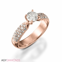 Picture of 1.88 Total Carat Classic Engagement Round Diamond Ring