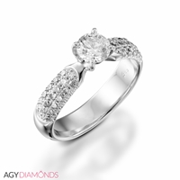 Picture of 2.38 Total Carat Classic Engagement Round Diamond Ring
