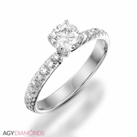 Picture of 1.10 Total Carat Classic Engagement Round Diamond Ring