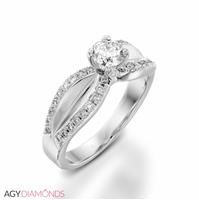 Picture of 0.99 Total Carat Designer Engagement Round Diamond Ring