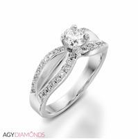 Picture of 1.29 Total Carat Designer Engagement Round Diamond Ring