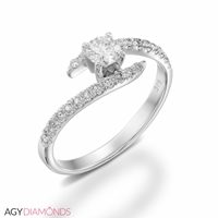 Picture of 1.14 Total Carat Designer Engagement Round Diamond Ring