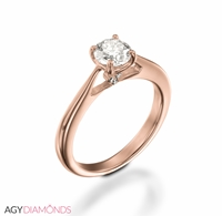 Picture of 0.53 Total Carat Classic Engagement Round Diamond Ring