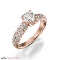 Picture of 0.95 Total Carat Classic Engagement Round Diamond Ring