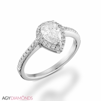 Picture of 2.22 Total Carat Halo Engagement Pear Diamond Ring