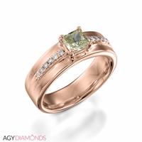 Bild von 0.62 Gesamtkarat Designer-Verlobungsring mit Princessdiamant