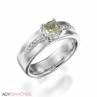 Bild von 2.12 Gesamtkarat Designer-Verlobungsring mit Princessdiamant