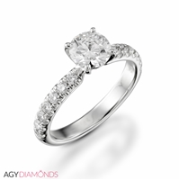 Picture of 0.78 Total Carat Classic Engagement Round Diamond Ring